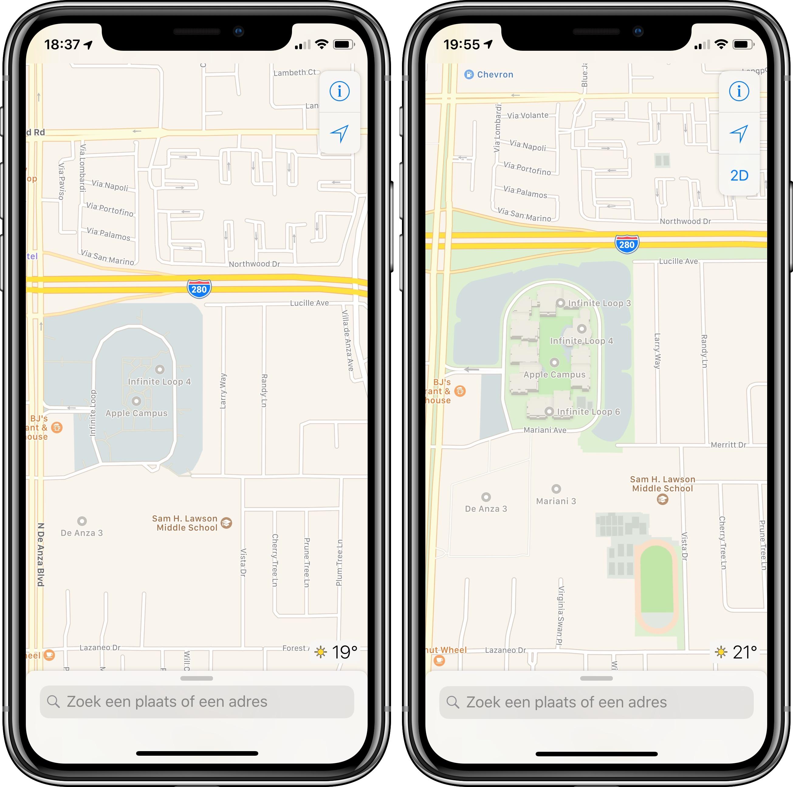 Apple Maps oud en nieuw 006