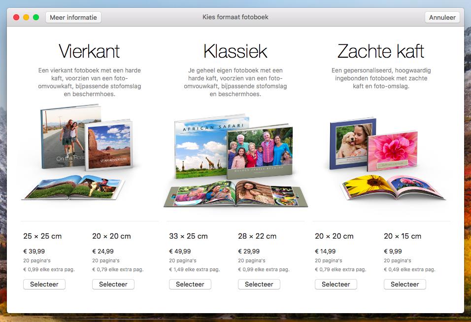 Apple fotoboeken