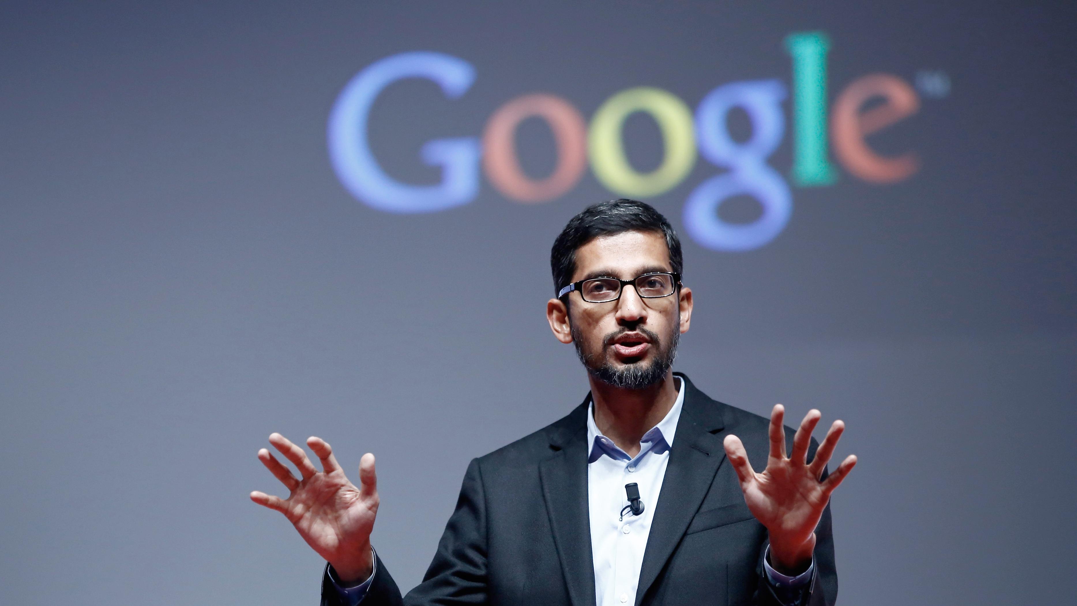 google topman Sundar Pichai