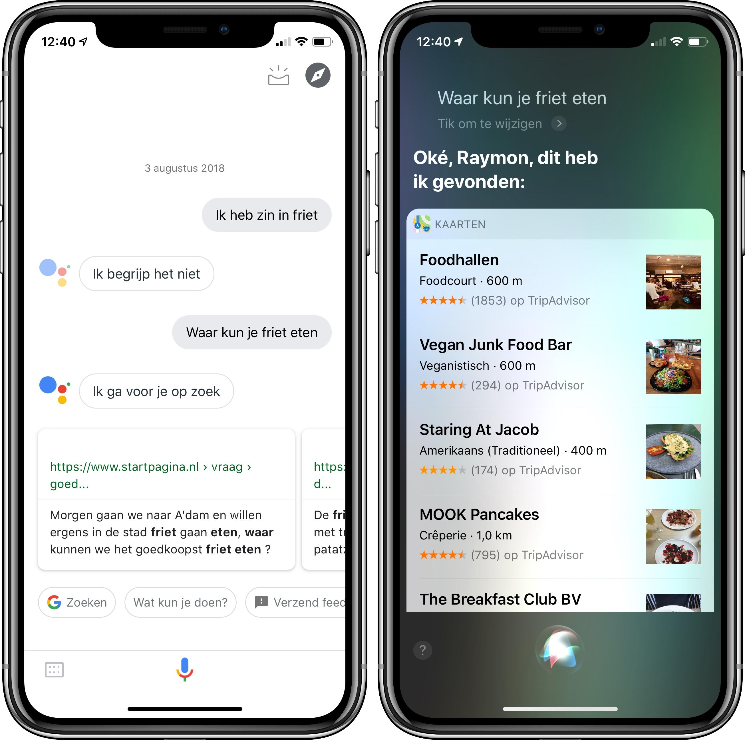 Google Assistant vs. Siri