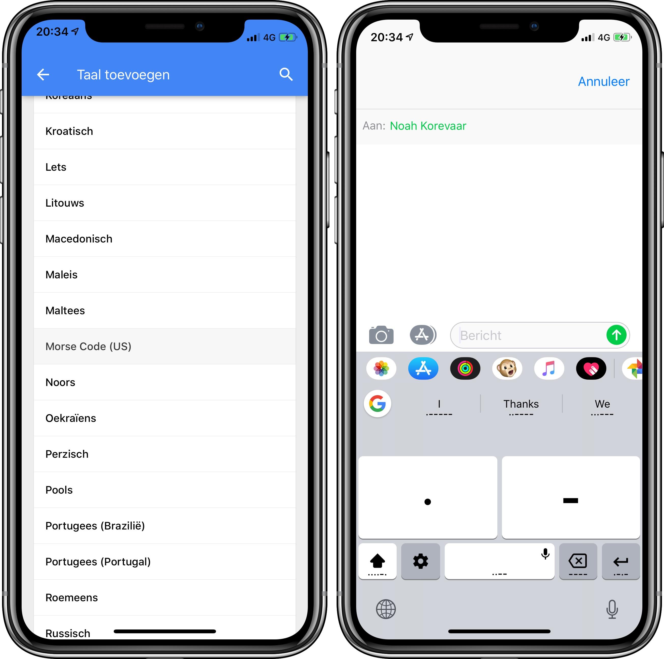 Gboard morse iOS