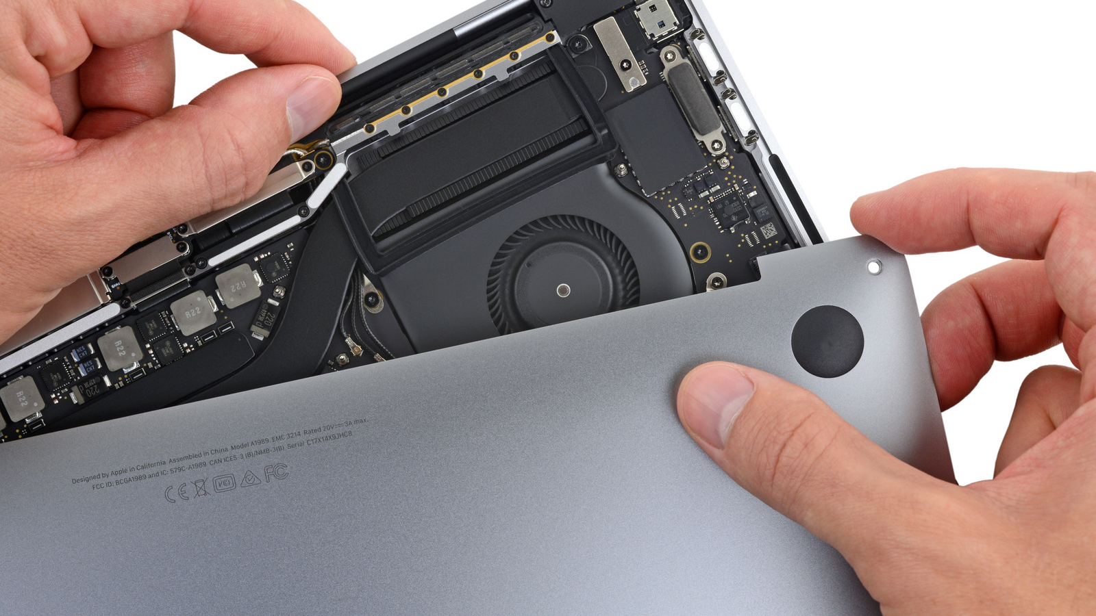 MacBook Pro 2018 binnenkant