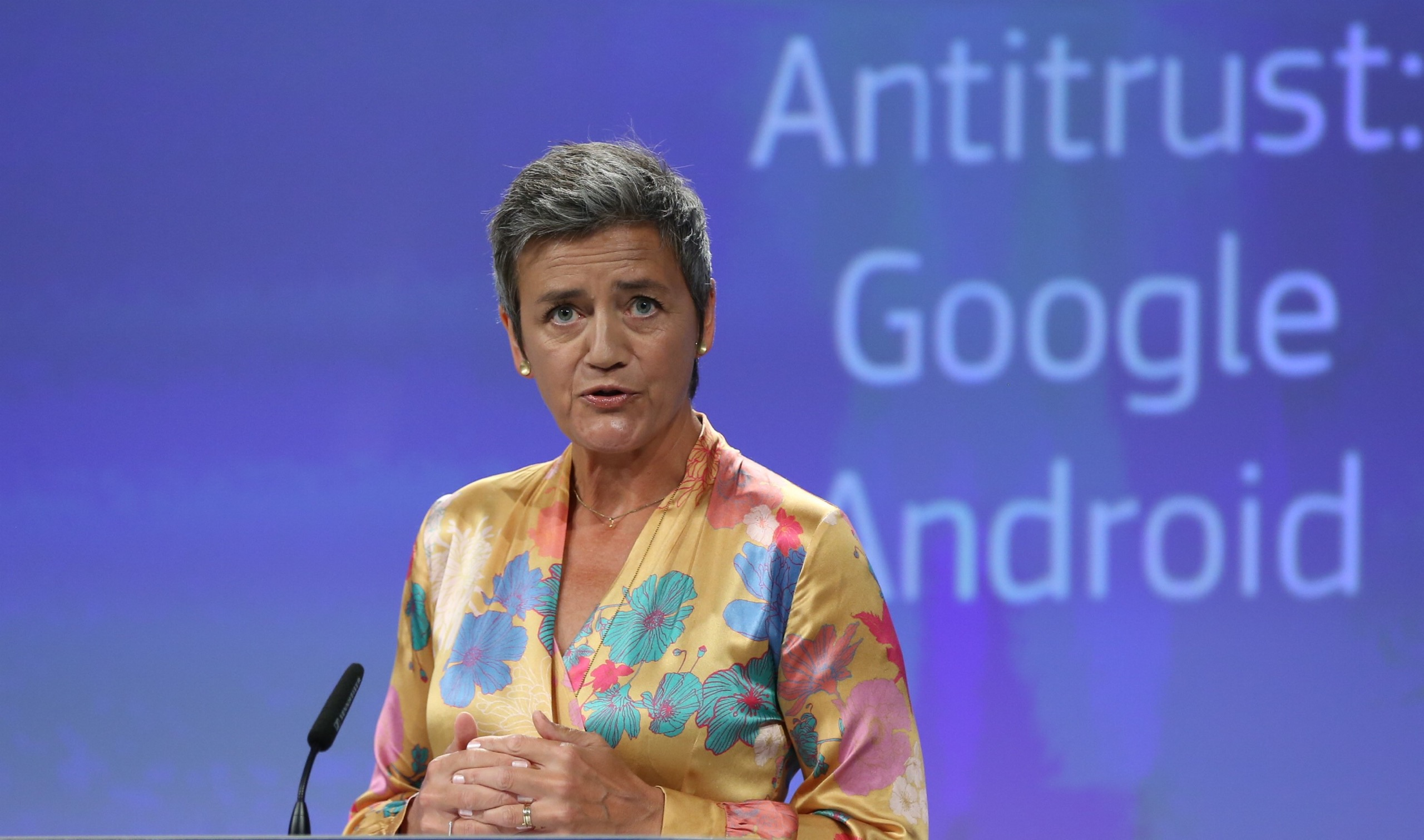 Google Android boete Margrethe Vestager