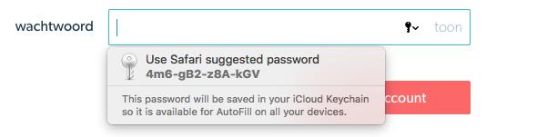 Safari password