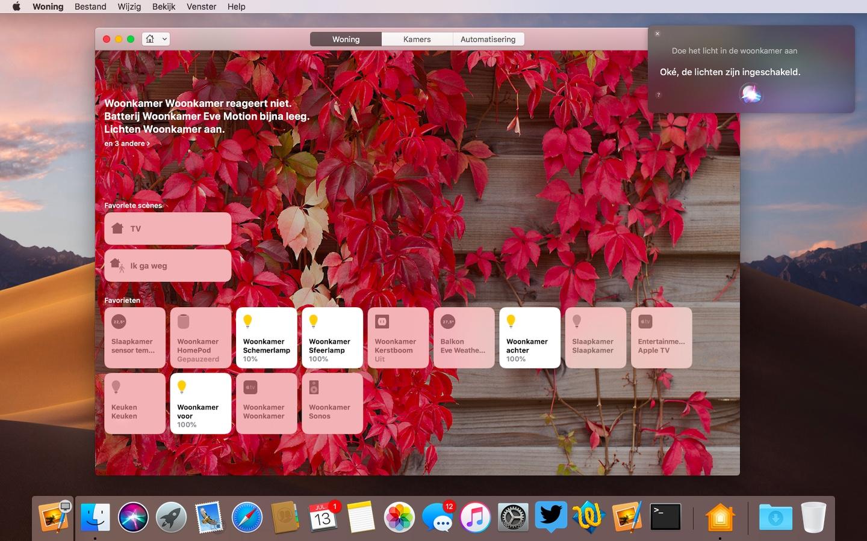 Siri woning macOS Mojave