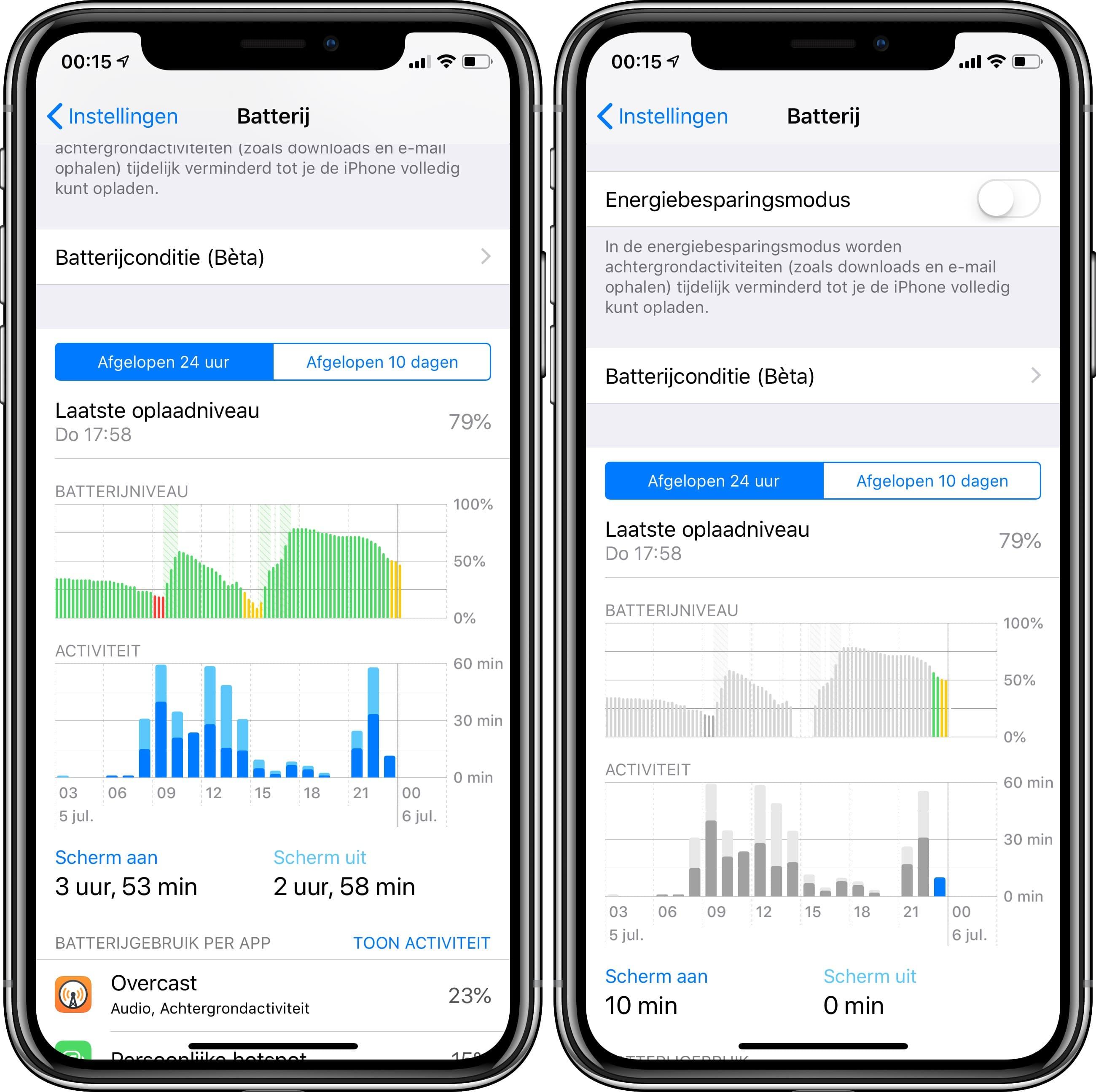 iOS 12 publieke beta 2 batterijbeheer