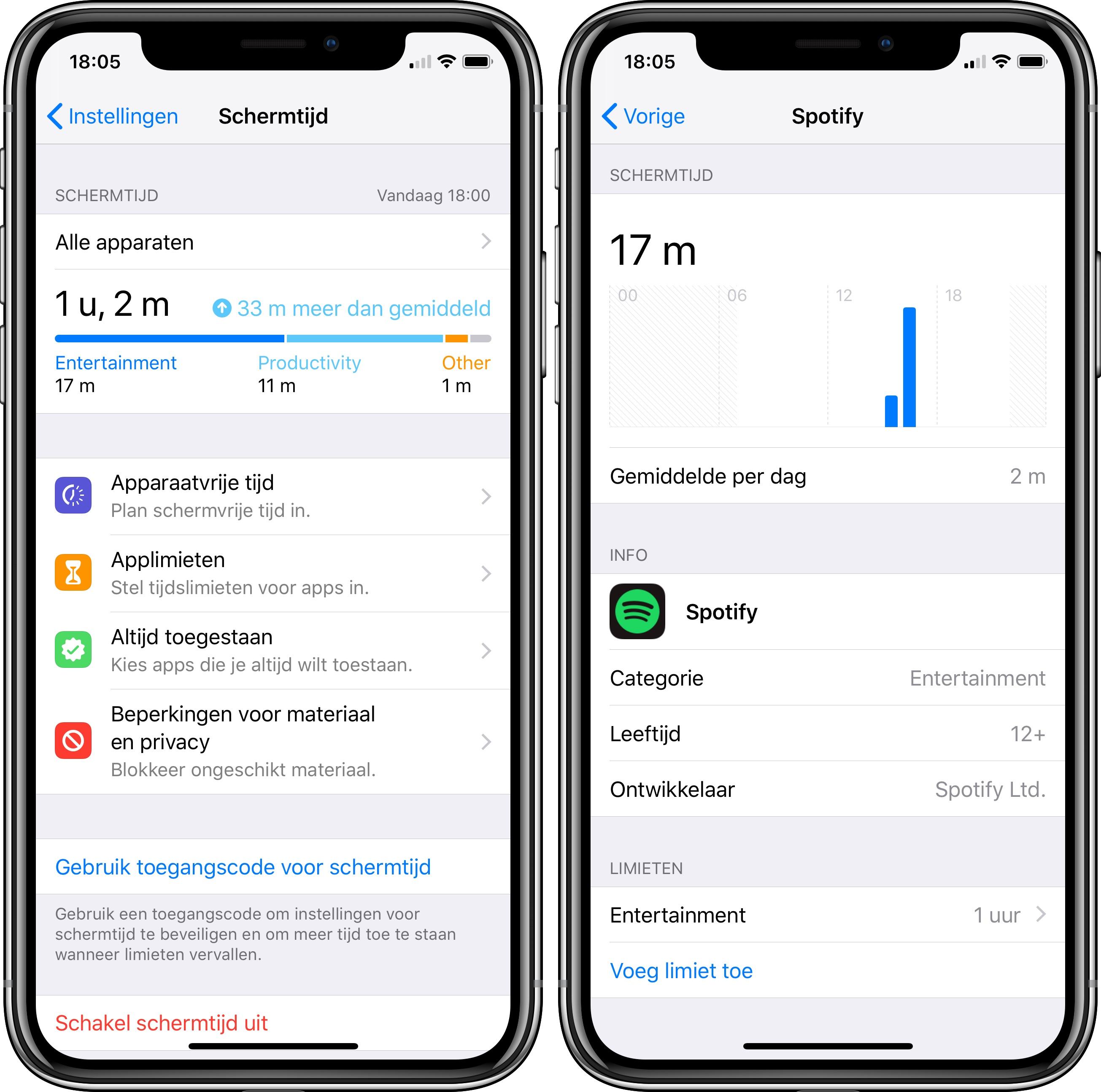 iOS 12 publieke beta 3 schermtijd