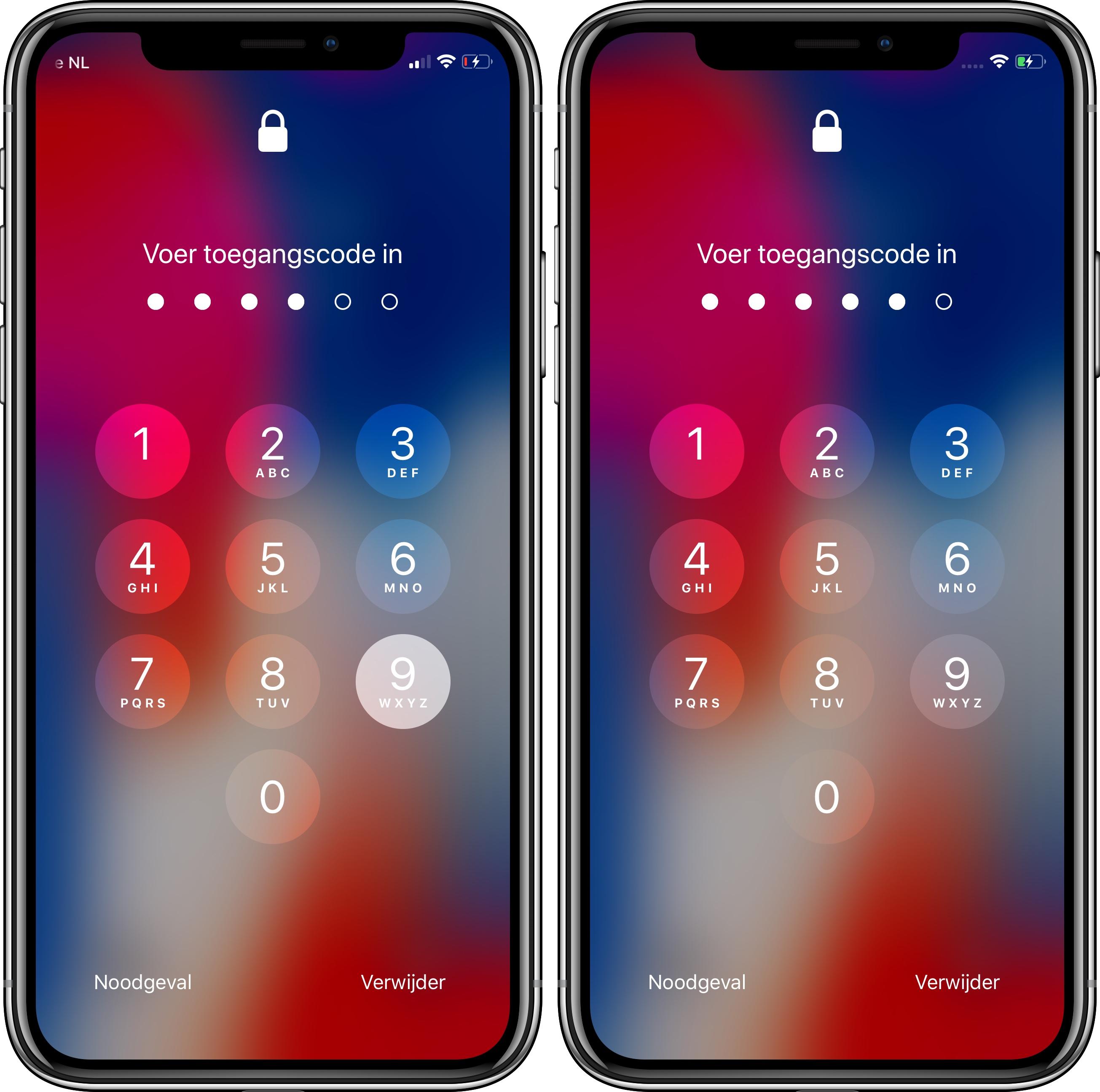 iOS 12 publieke bèta 4 codeslot