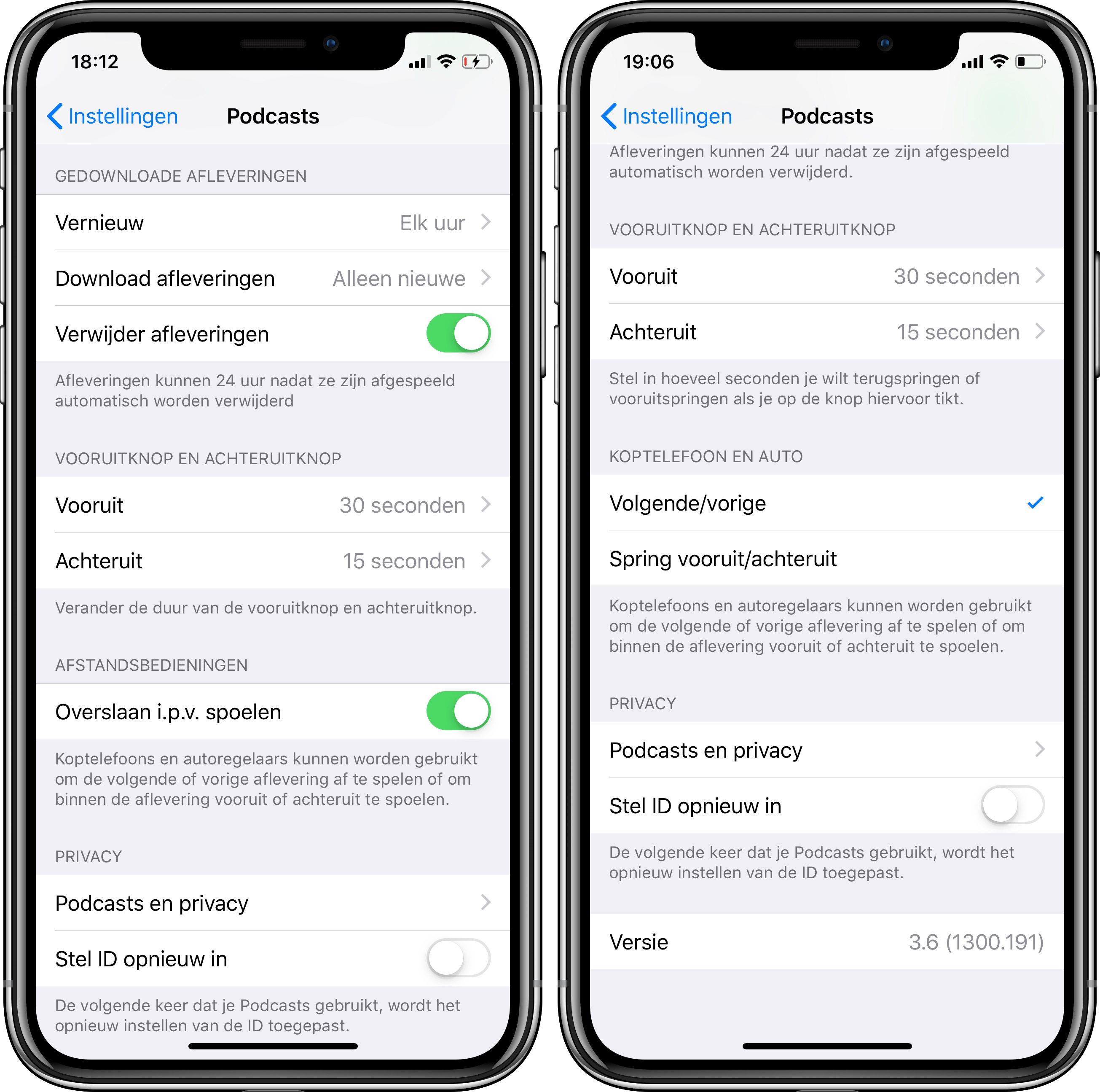 iOS 12 publieke beta 4 podcasts