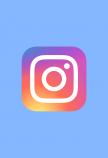 Instagram blauw