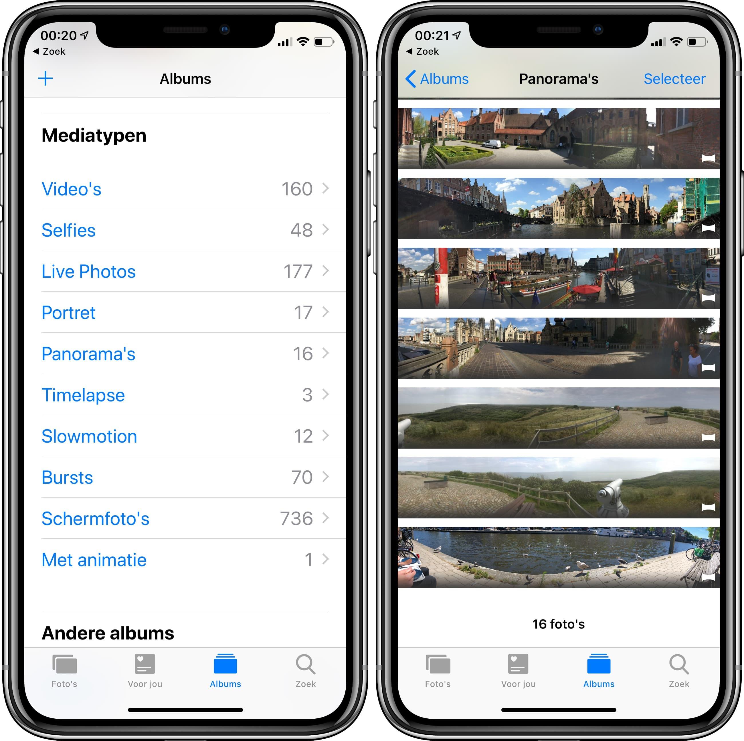 iOS 12 foto's app mediatypen publieke beta 2