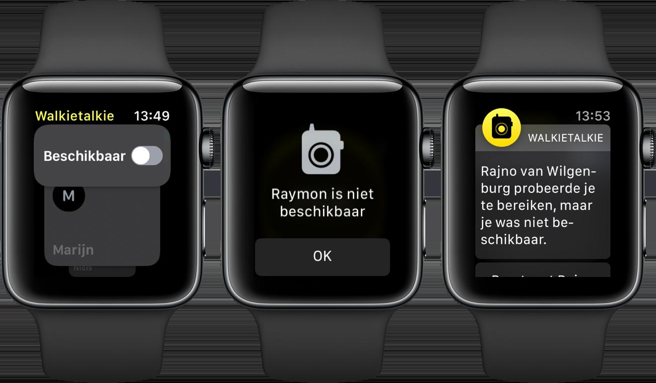 Apple watch watchos 5 walkietalkie niet beschikbaar