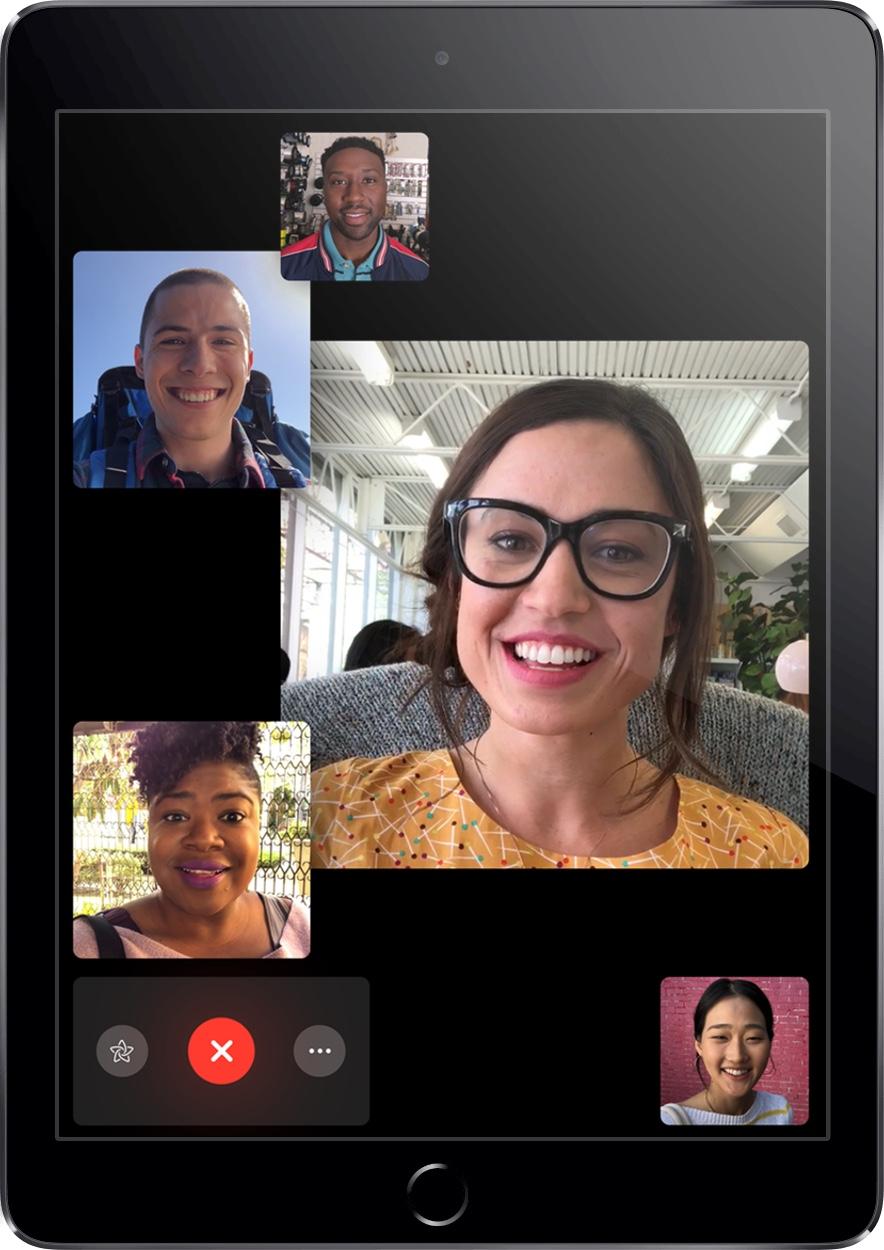 FaceTime Groepen iPad iOS 12.1