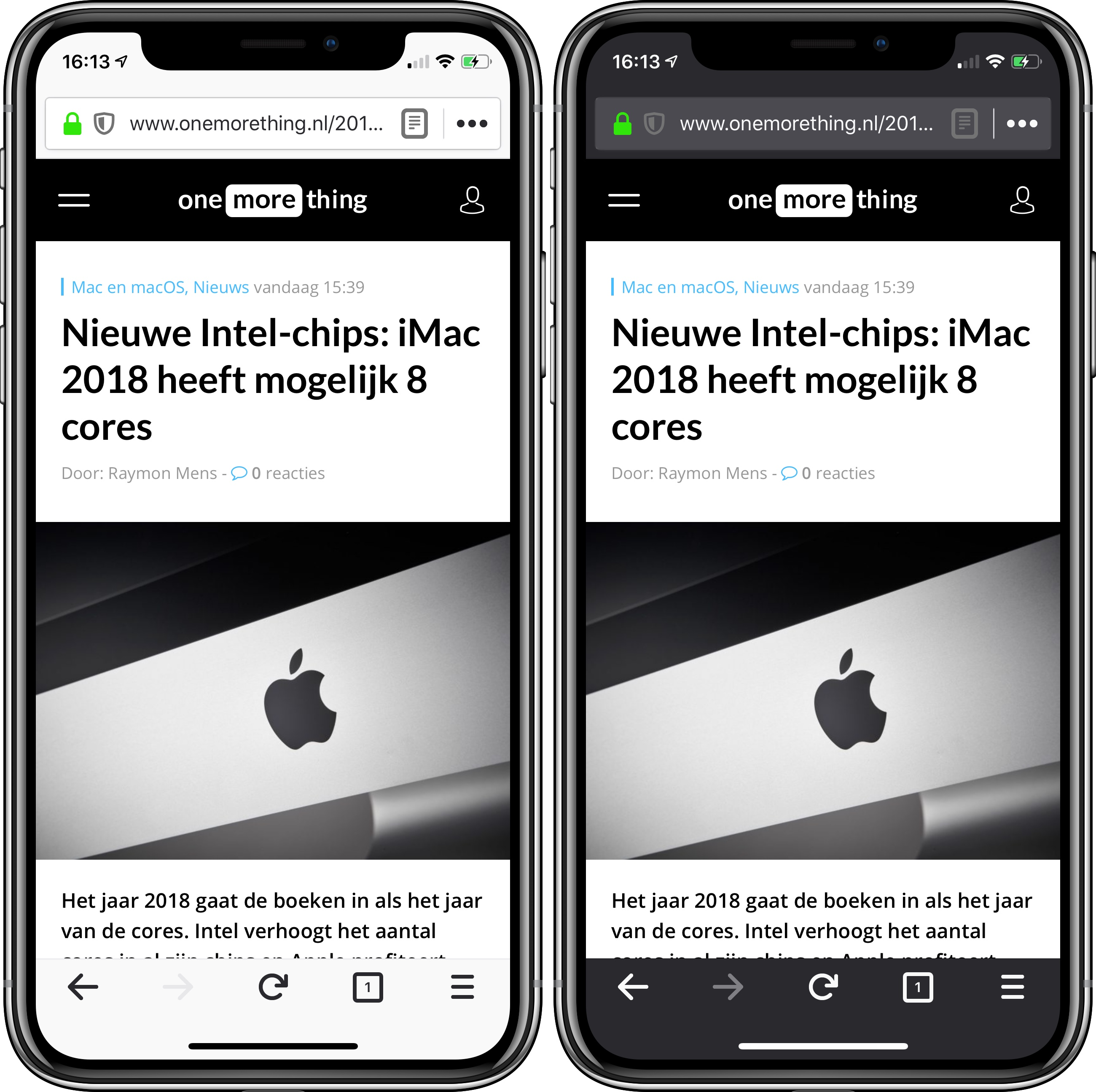 Firefox iOS dark mode