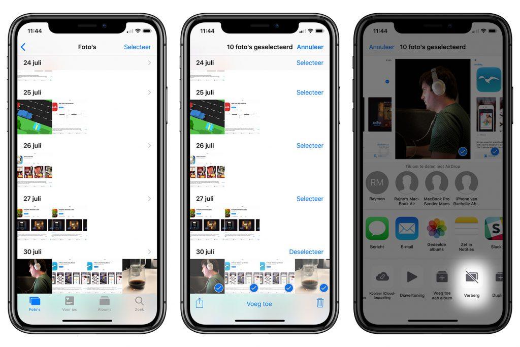 foto's verbergen iOS