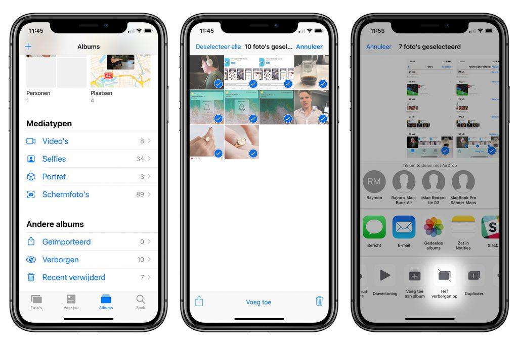 foto's verbergen iPhone