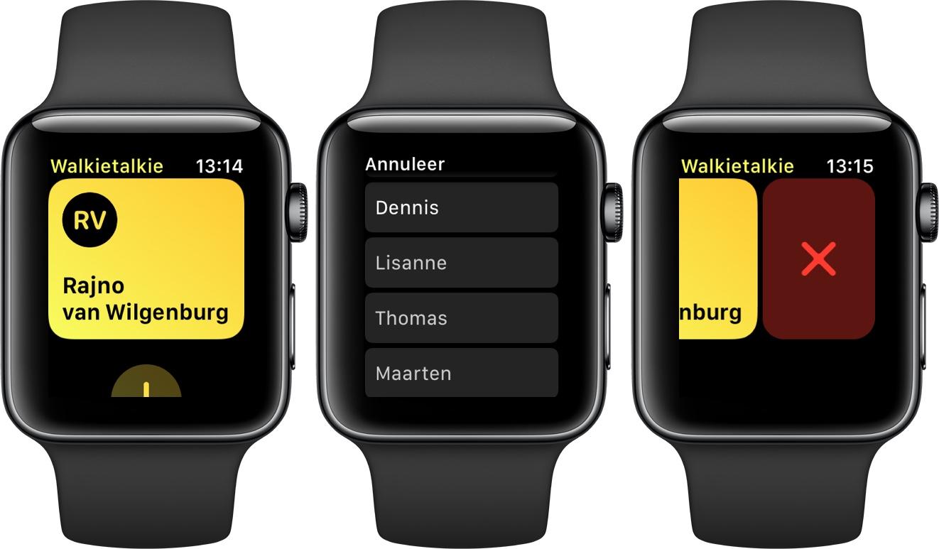 apple watch watchos 5 walkietalkie
