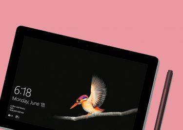 Surface Go de iPad concurrent