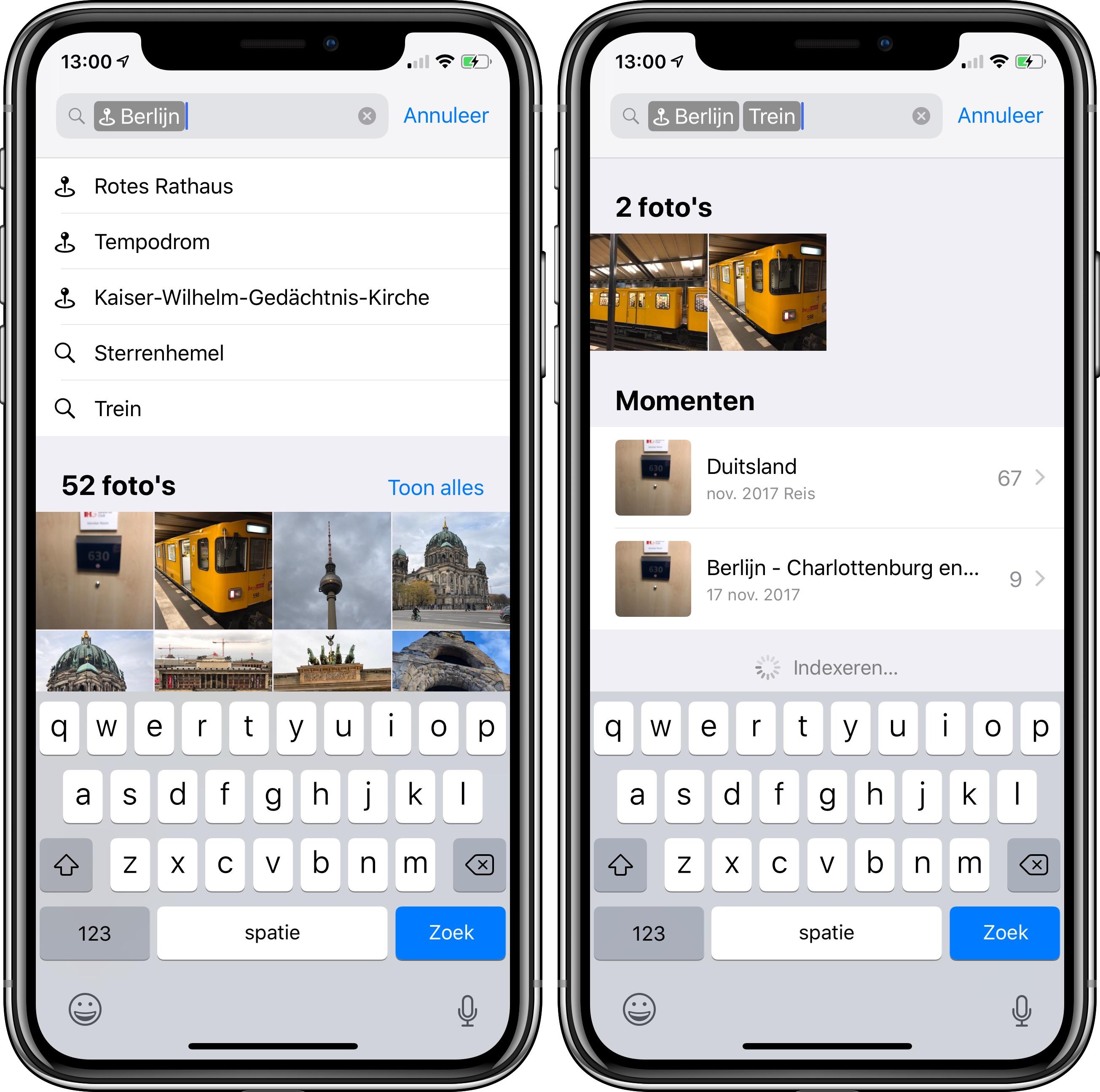 iOS 12 foto's-app zoeken