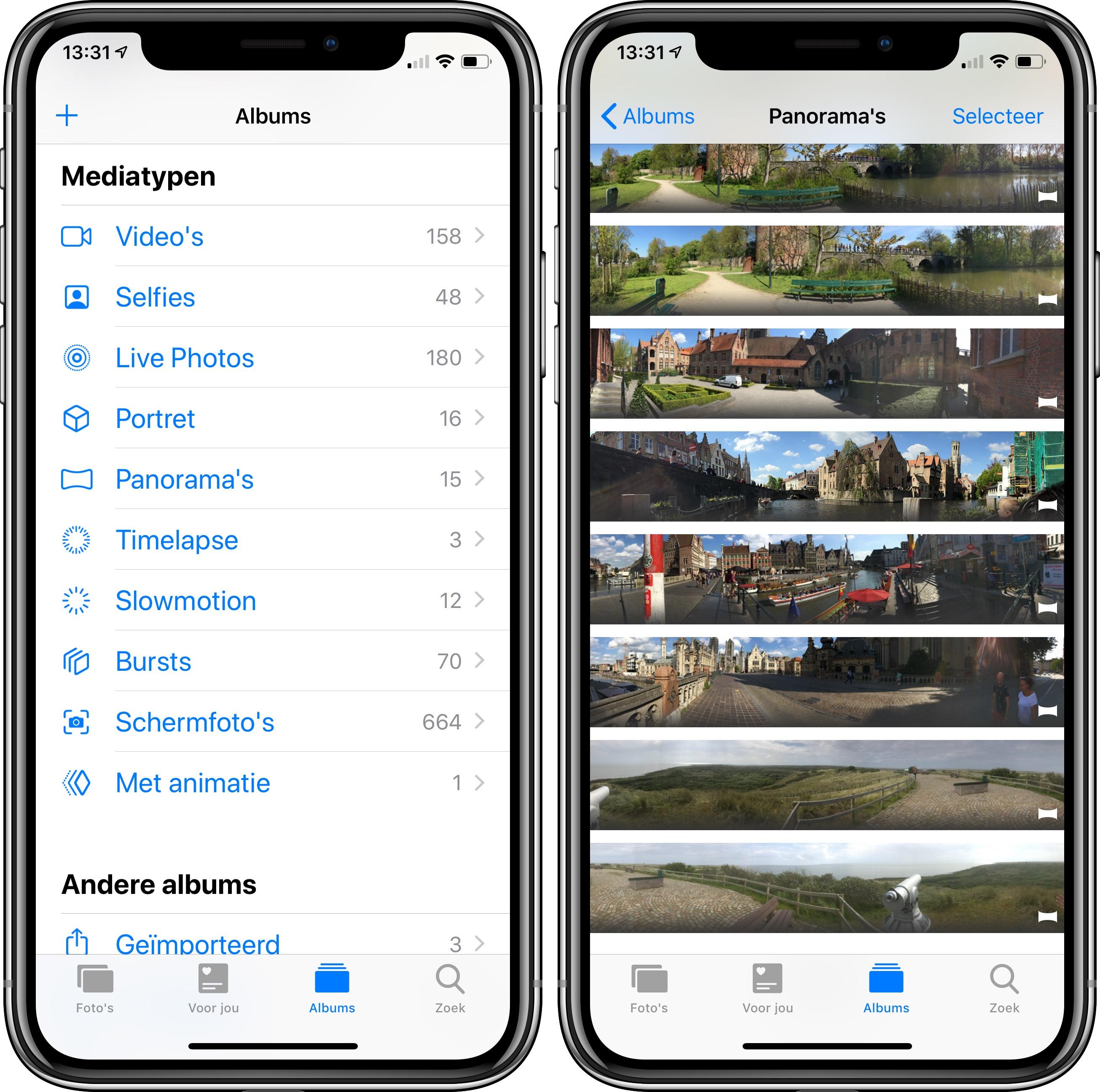 iOS 12 foto's-app albums