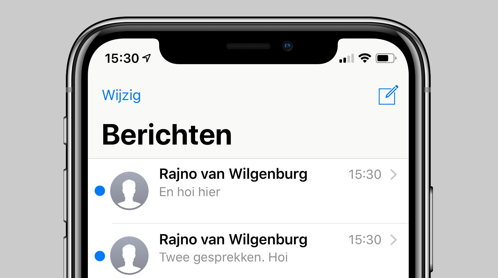 iOS 12 dubbele iMessage gesprekken