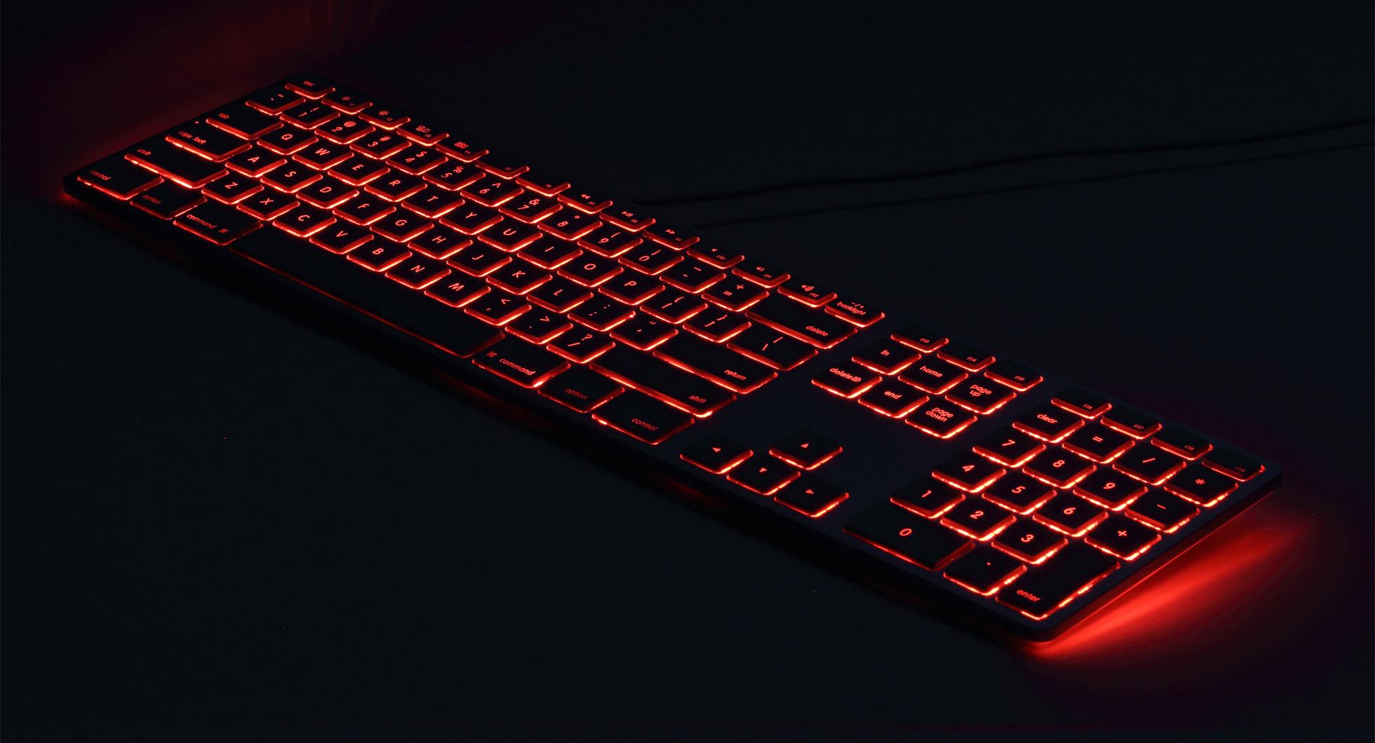 Matias USB toetsenbord - rood