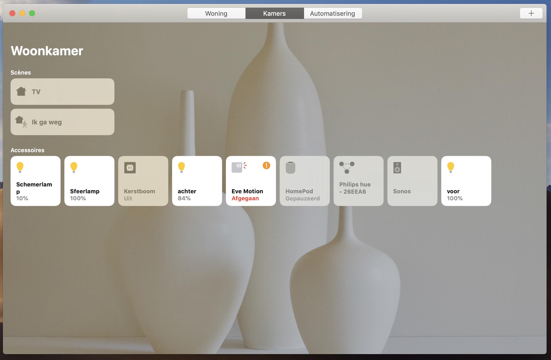 macOS Mojave HomeKit Woning-app
