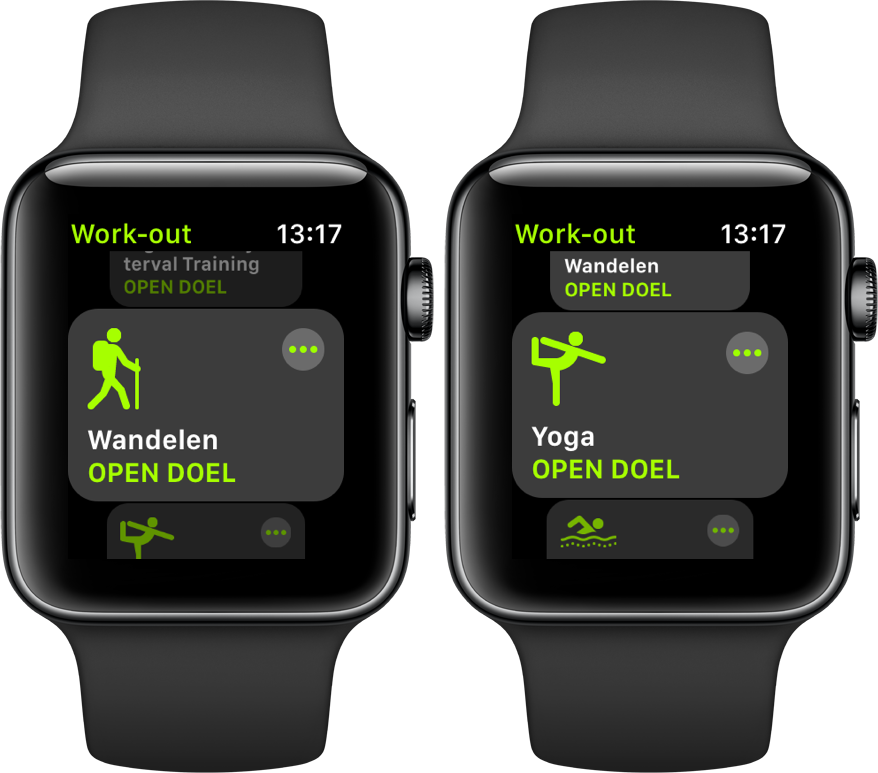 watchOS 5 yoga hiking