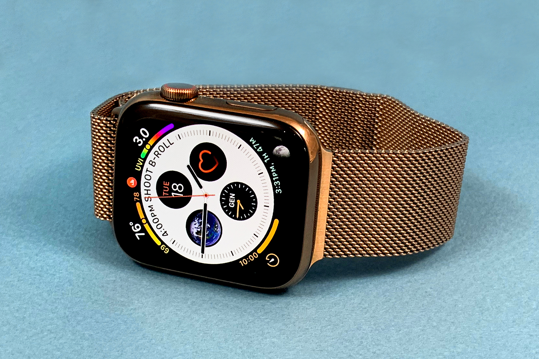 Apple Watch Seres 4 goud blauw