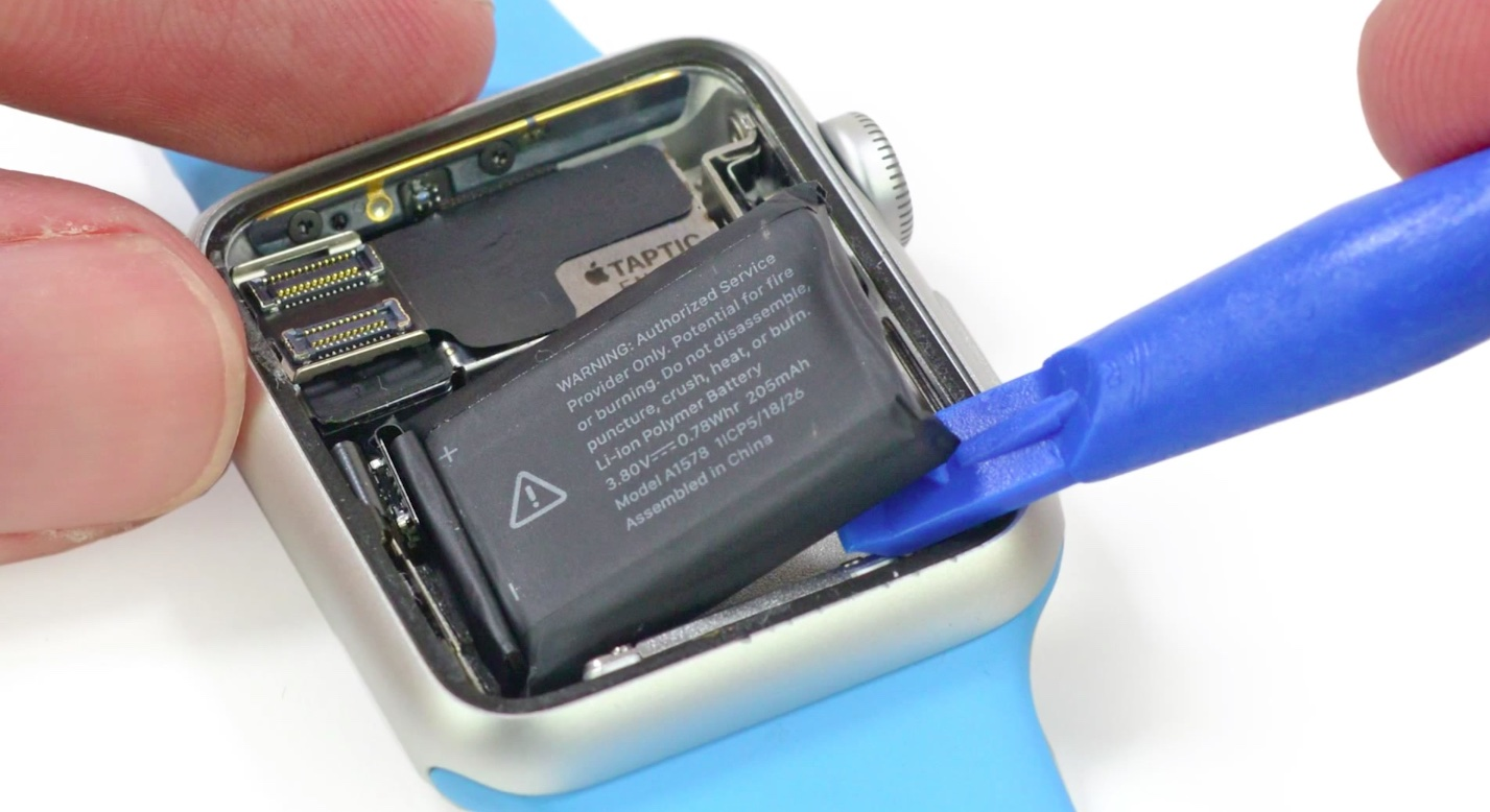 Apple Watch batterij ifixit