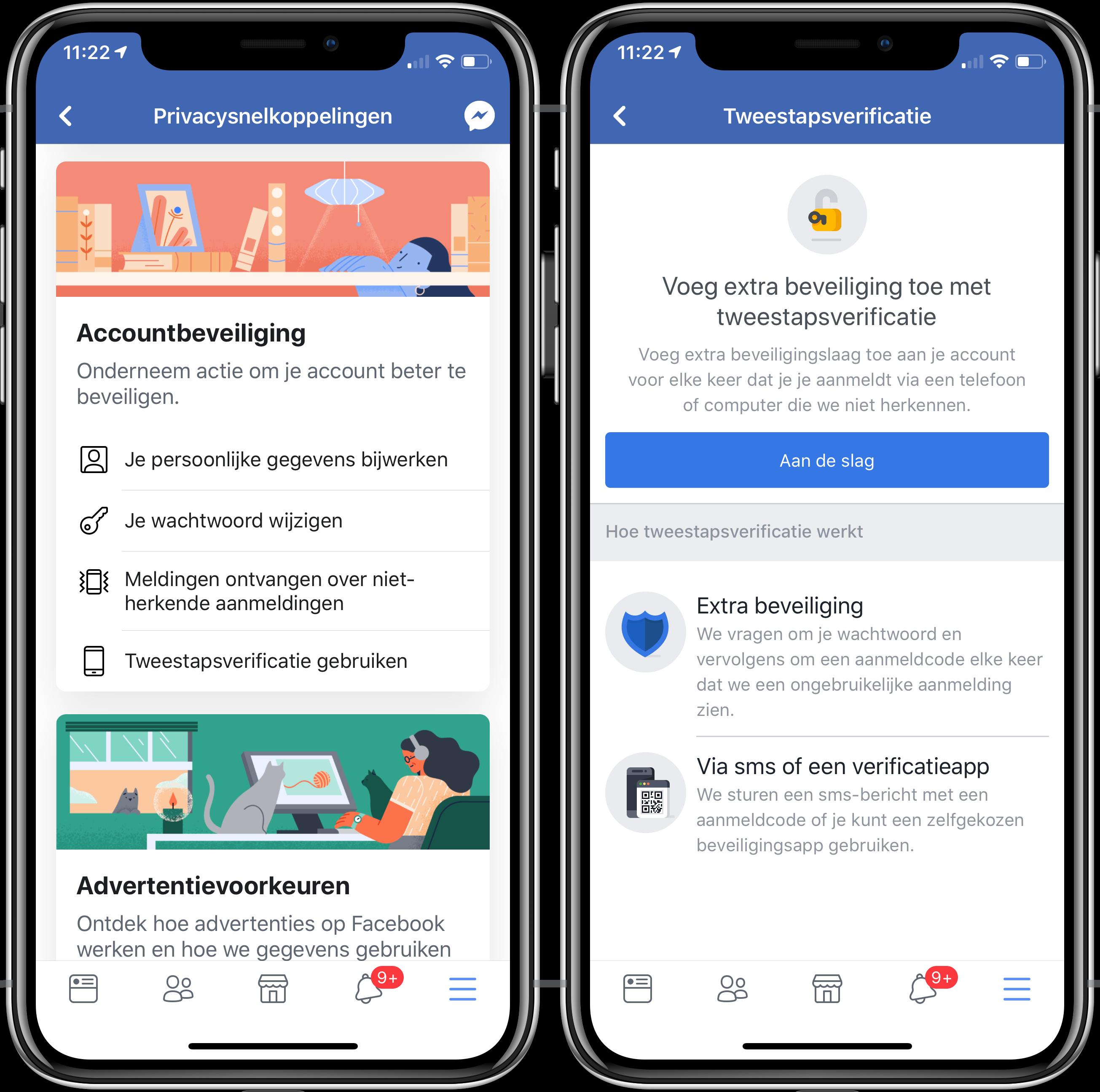 Facebook twee-staps-verificatie