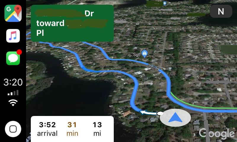 Google Maps CarPlay 003