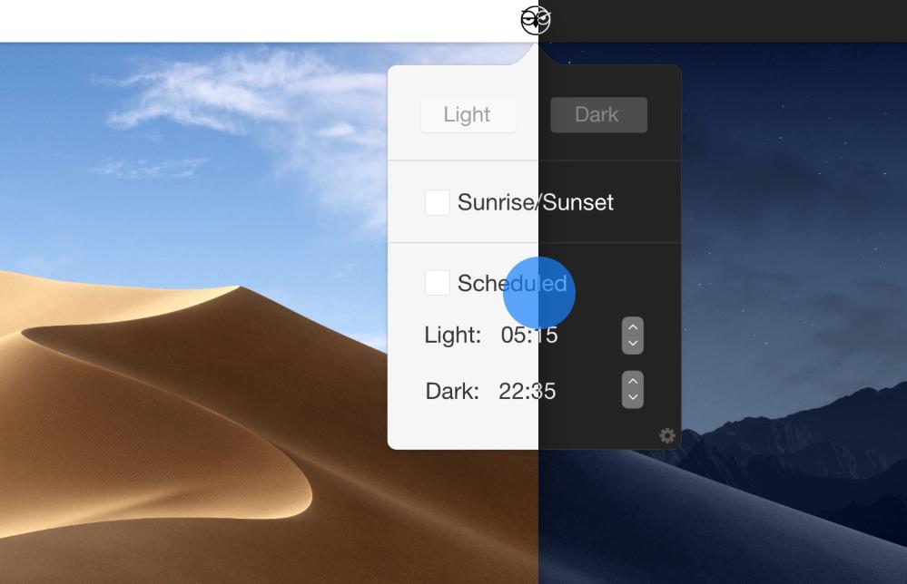 macOS Mojave Dark Mode automatisch inschakelen