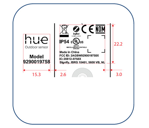 Philips Hue Outdoor Sensor FCC