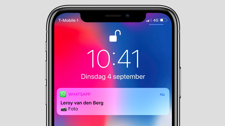 WhatsApp iPhone foto voorvertoning