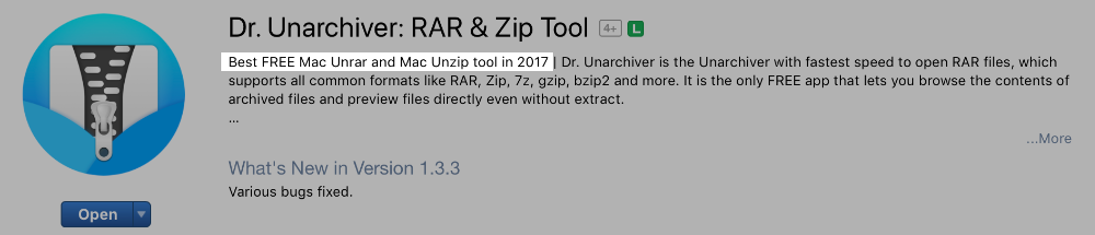 dr. unarchiver Mac App Store