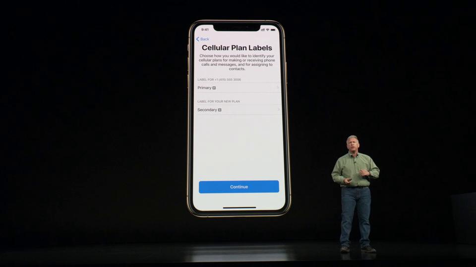 dual-sim iPhone XS