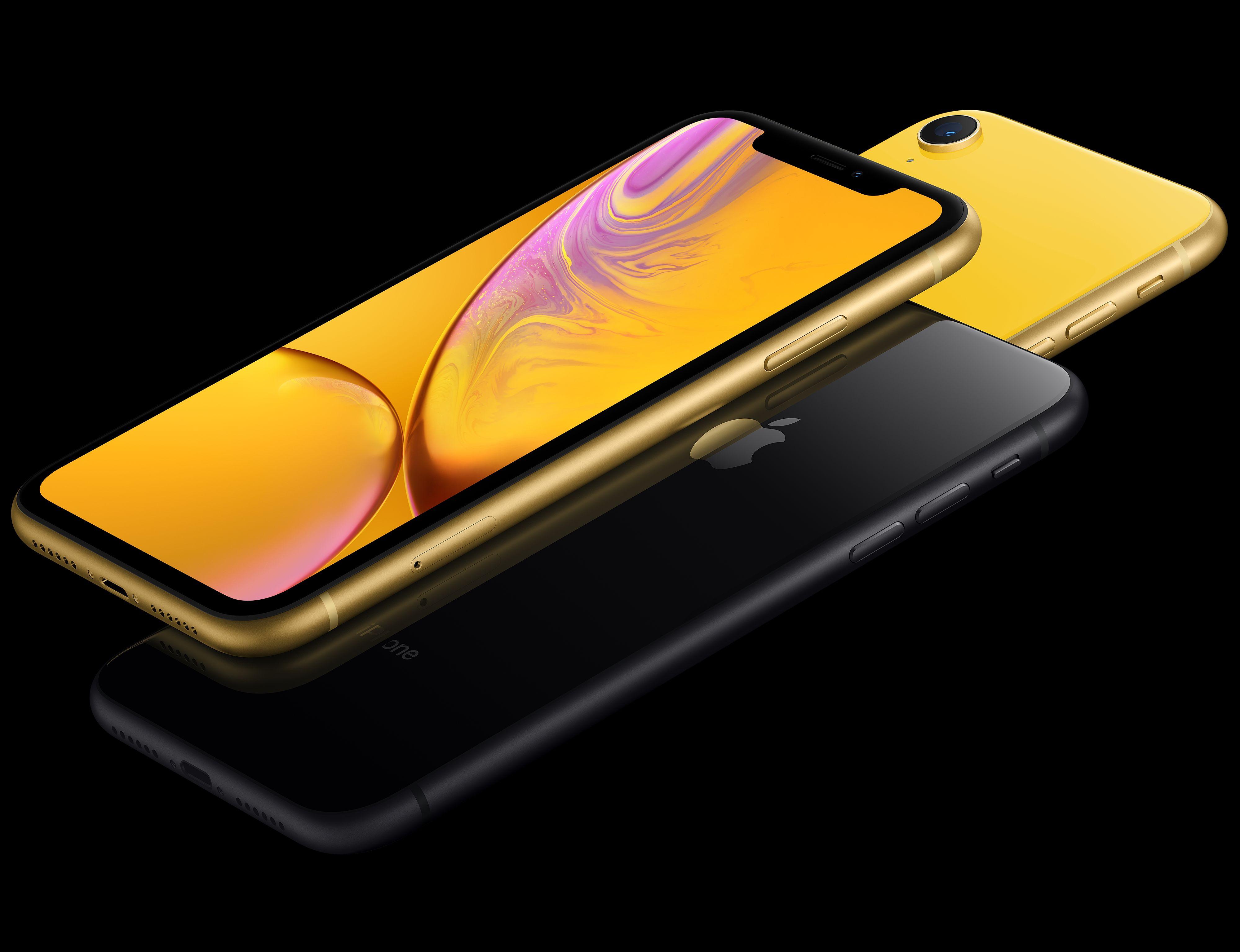 iPhone XR geel en zwart
