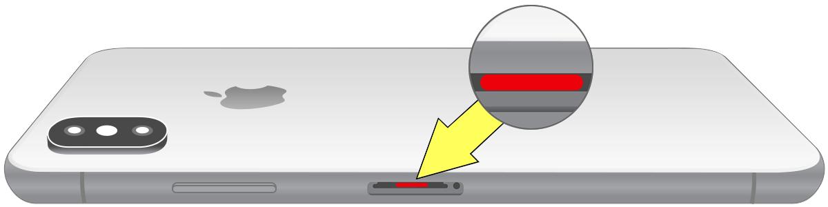 iPhone Xs waterdicht indicator