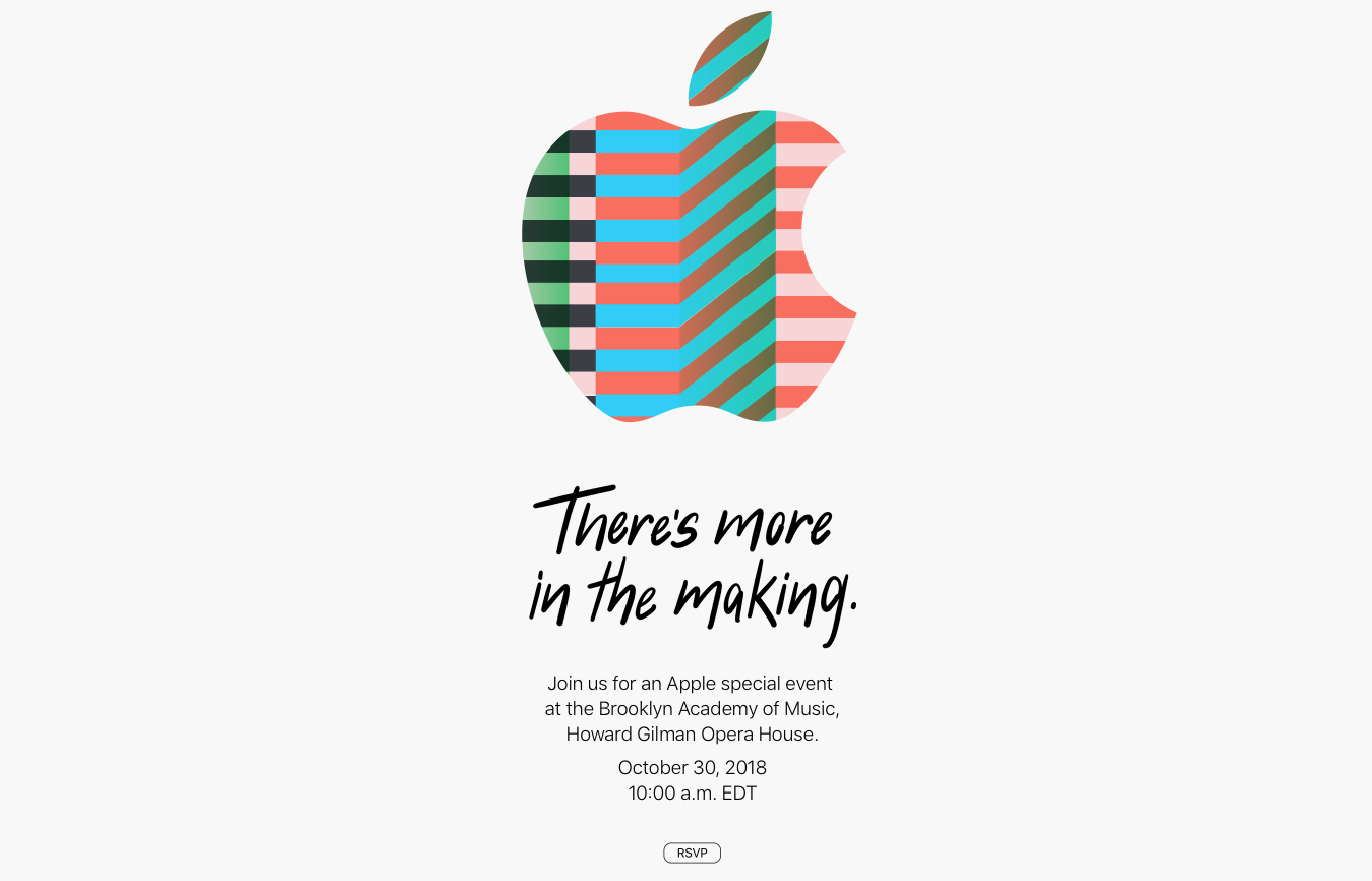 Apple Event 30 oktober 2018