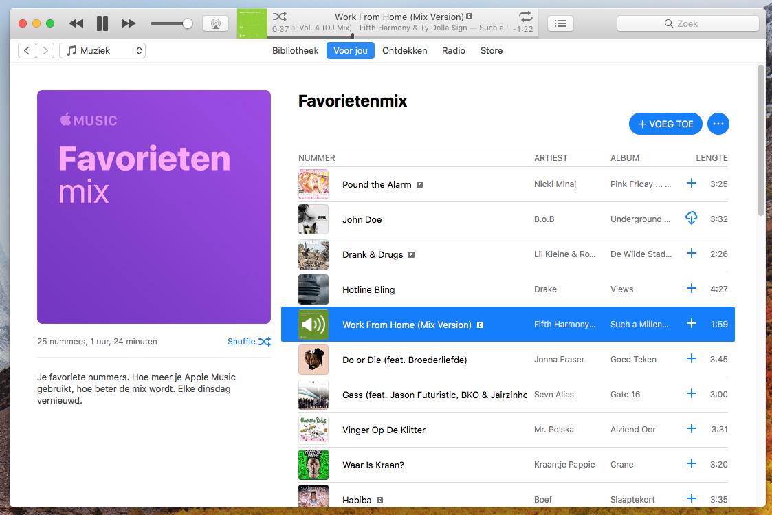 Apple Music Mix Version fuckup