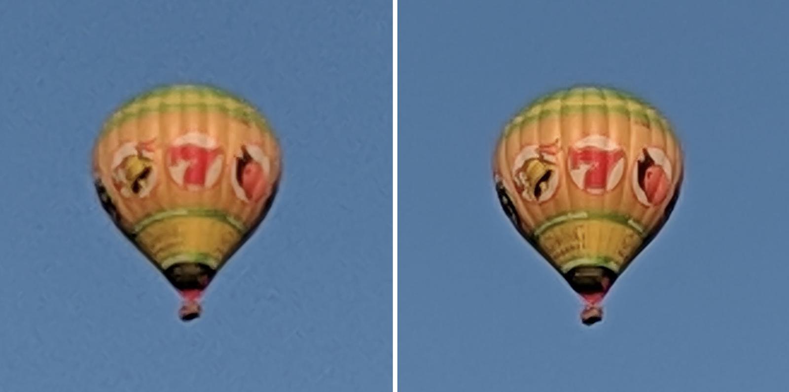Google Super Res Zoom vergelijking