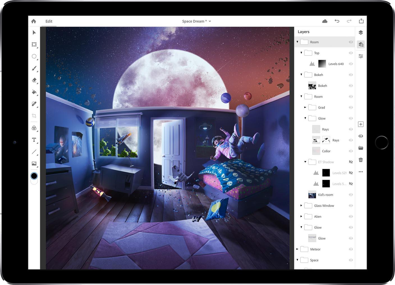Adobe Photoshop iPad 2019