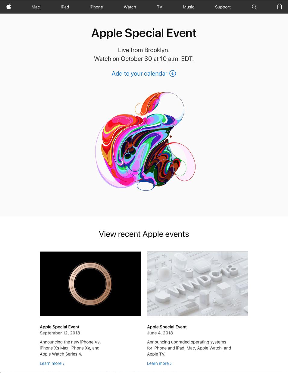 Apple live feed pagina