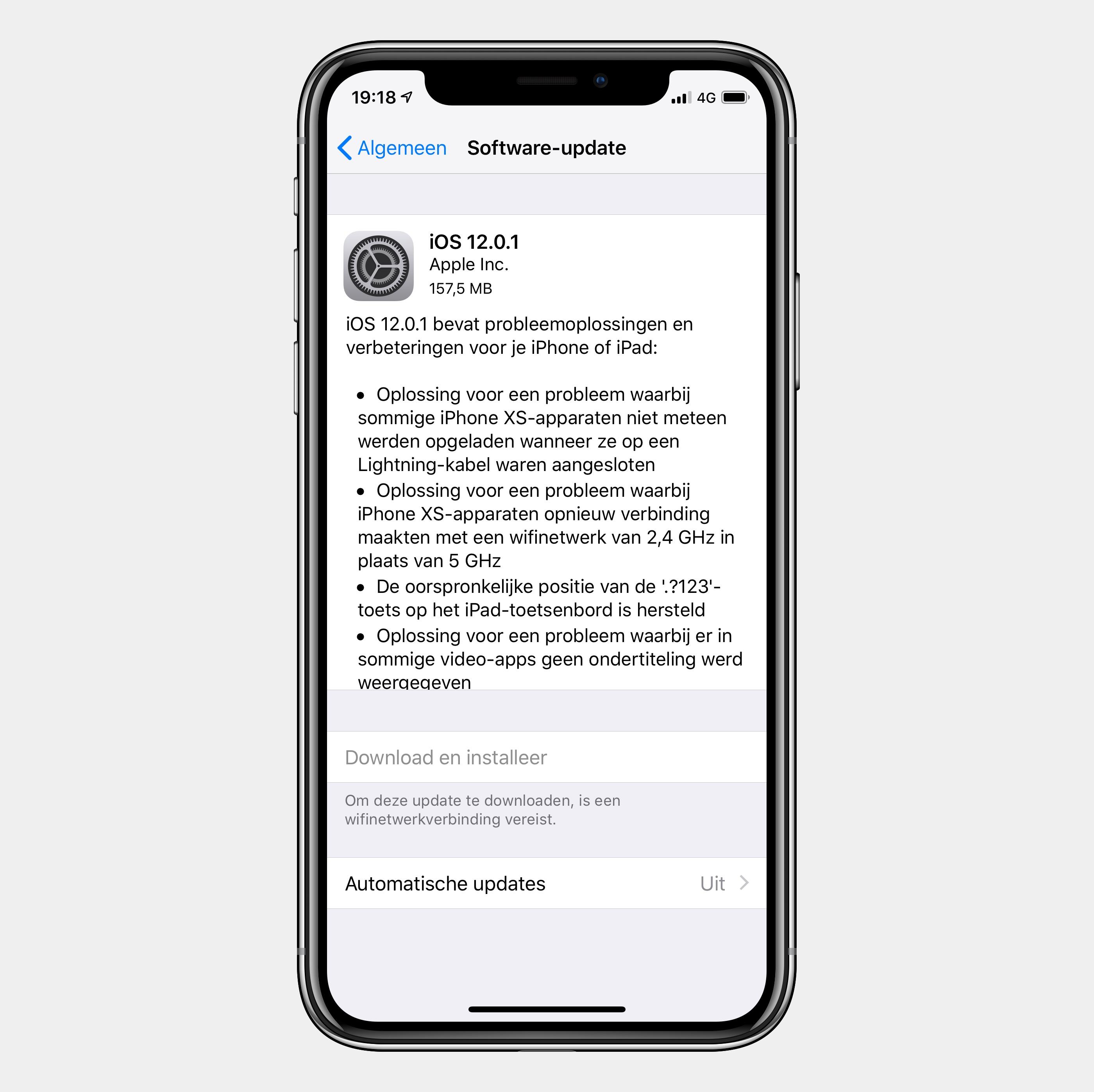iOS 12.0.1 update
