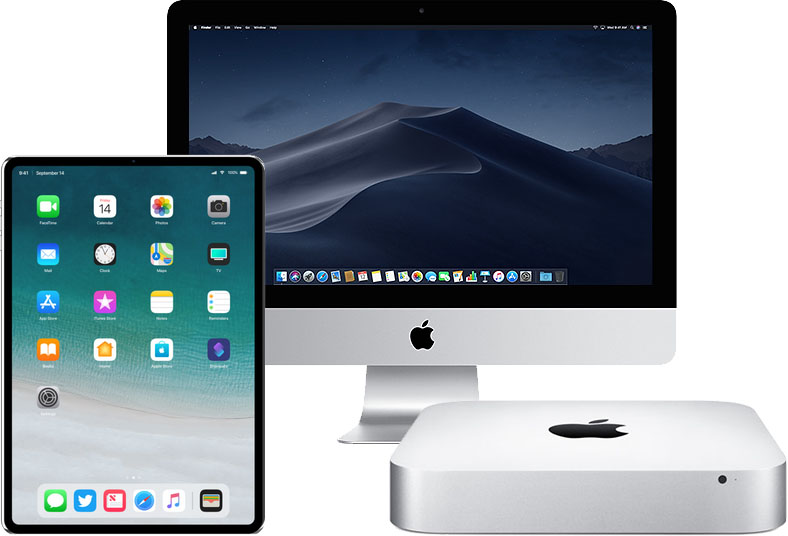 iMac, Mac mini en iPad met Face ID