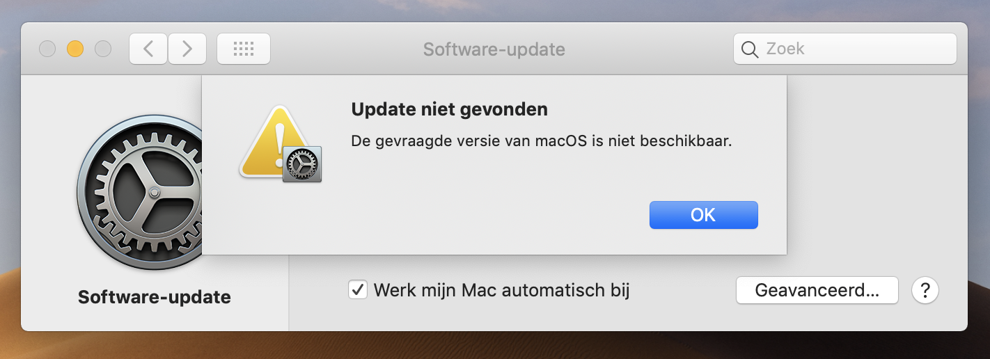 macos mojave oude macos
