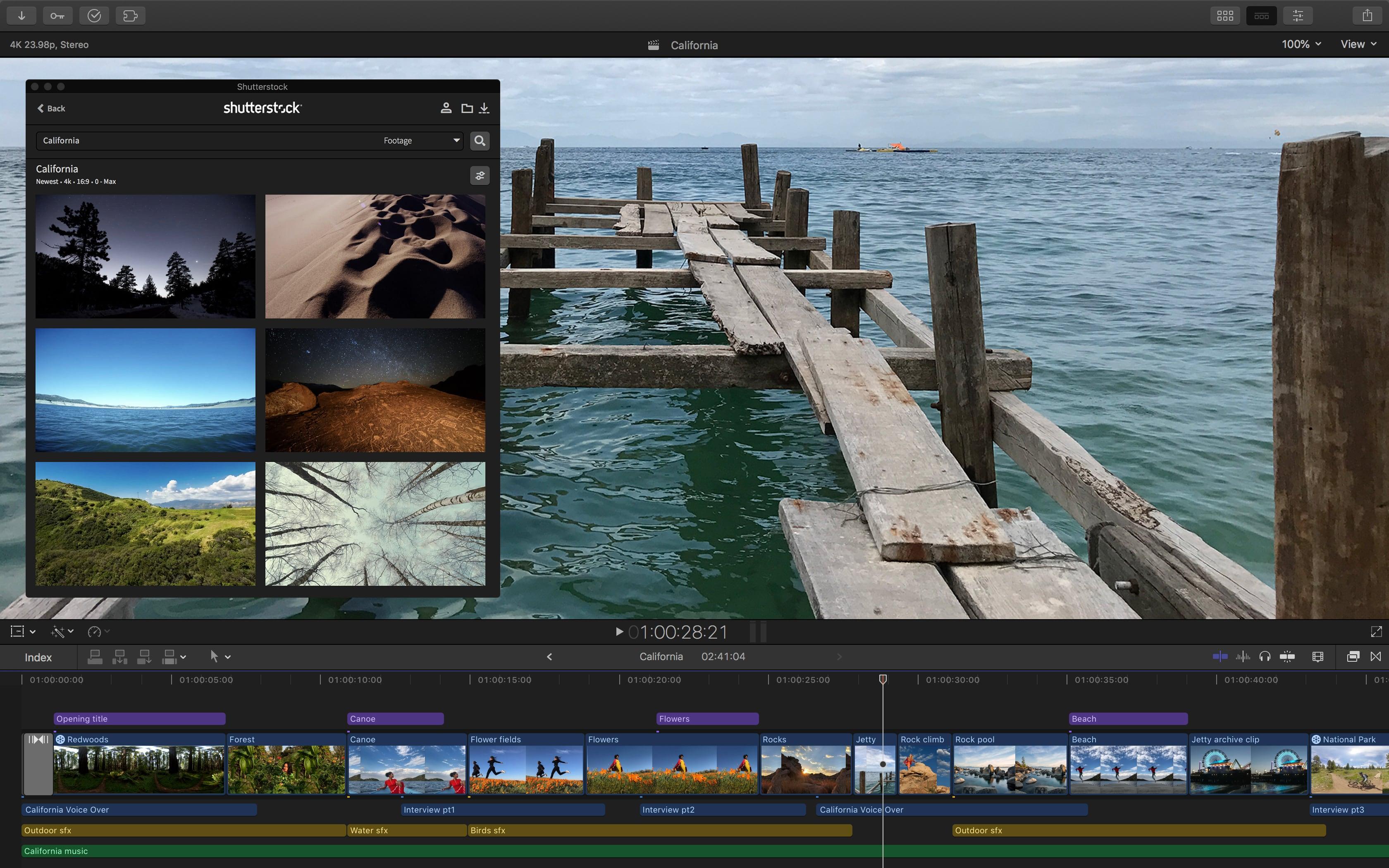 Final Cut Pro X Shutterstock