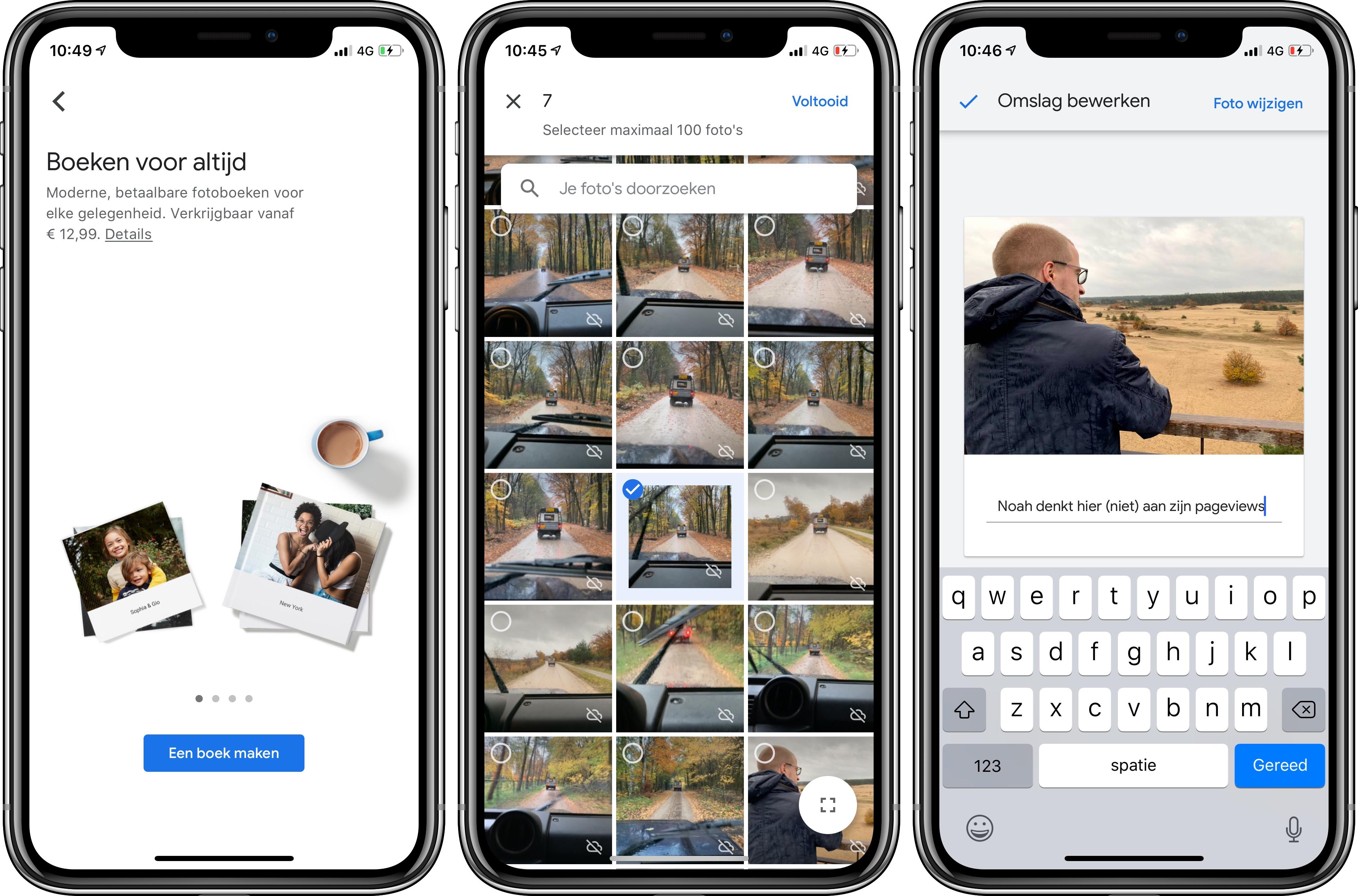 Google Foto's iOS fotoboeken 2
