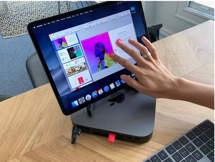 Mac mini met iPad display